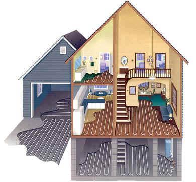 Podlahové vytápění lze využív celém domě